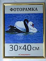 Фоторамка ,пластиковая, 30*40, рамка, для фото, дипломов, сертификатов, грамот, картин, 1415-96