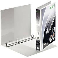 Папка для комерційних пропозицій Leitz Panorama SoftClick, ПП, A4+, 4 кільця/20, 2/3, білий42000001