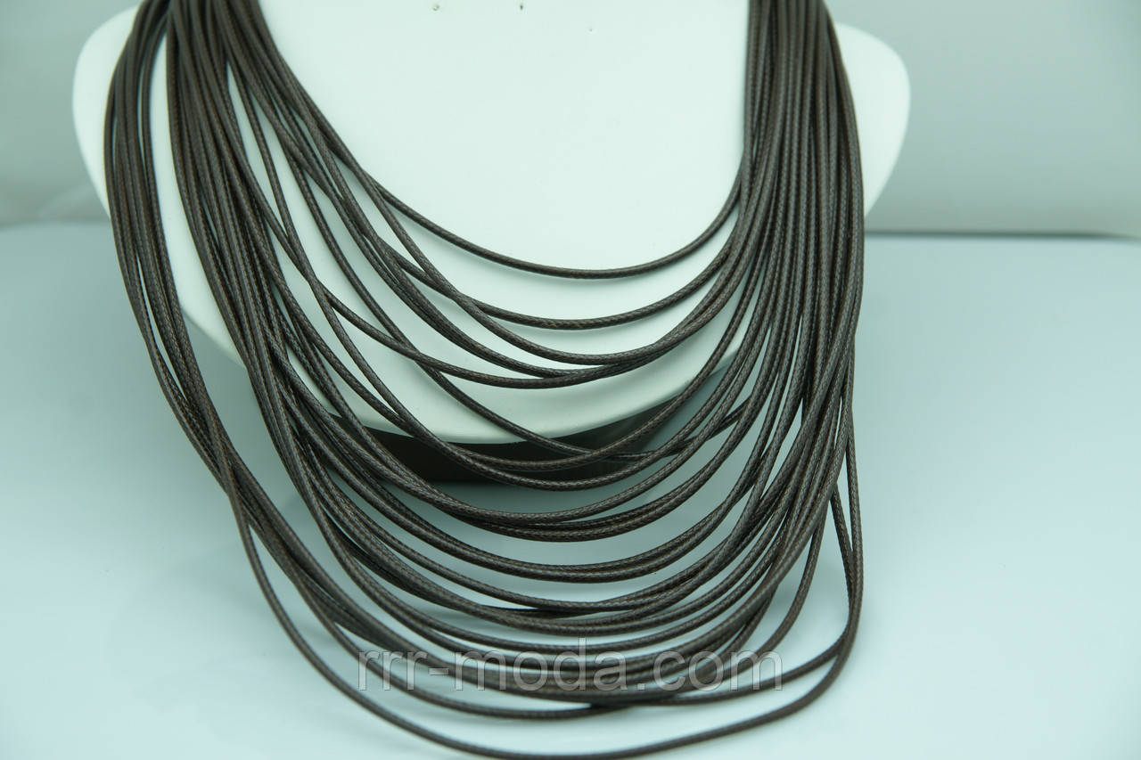 Свисающие коричневые колье из кожи. Кожаные шейные украшения оптом недорого. 494 - Бижутерия оптом «R. R. R.» в Одессе