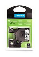 Лента D1 нейлоновая Dymo 12мм х 3,5м S0718040 белая с перманентным клеем для принтера LabelManager/LabelPoint