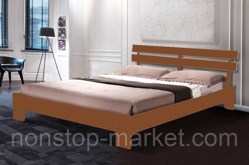 """Кровать двуспальная деревянная """"Эмма"""" Яблоня 1.6м (Микс Мебель) - Nonstop-Market в Днепре"""