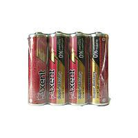 Батарейки AXENT АА R6 1.5 V, 4 шт.(сольові)