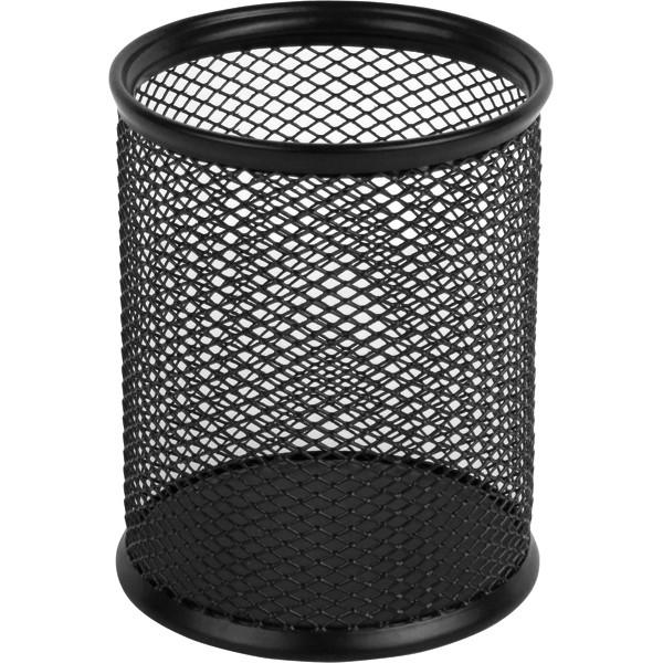 Подставка для ручек Axent круглая 80х80х100мм, метал черная 312852111-01-A