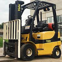 Вилочный погрузчик б/у YALE GLP20SVX, 2 тонны, 2006 года, на газу, всего 1729 моточаса!
