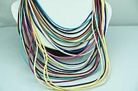 Разноцветные колье из кожи. Женские аксессуары оптом недорого. 496