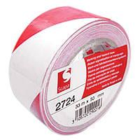 Скотч для разметки Scapa 2724 красно-белый (50мм х 33м)