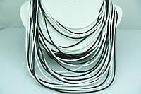 Чёрно -белое женское колье. Видные украшения оптом дёшево. 497