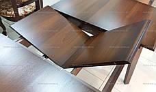 Обеденный стол для маленькой кухни  Джаз Модуль Люкс, темный орех, фото 2