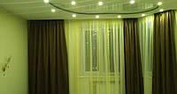 Штора в зал для углового окна
