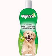 Концентрированный гипоаллергенный шампунь для собак и кошек Espree Hypo-Allergenic Coconut Puppies and Kittens Shampoo 355 мл