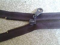 Молния металл 75 см.коричневая