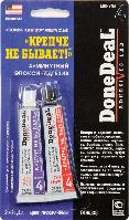 Клей Крепче не бывает 4-минутный стальной эпокси-адгезив цвет прозрачный DD6538 DoneDeal