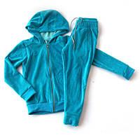 Детский голубой спортивный велюровый костюм, унисекс