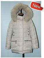 Пальто зимнее для девочки на двойном холлофайбере