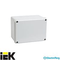 Коробка КМ41261 расп. (распределительная, соединительная) для о/п 150х110х85мм IP44 (глад.ст.) ИЭК