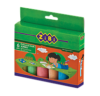 Мел цветной JUMBO круглый, 6 шт., картонная коробка, BABY Line (ZB.6710-99)