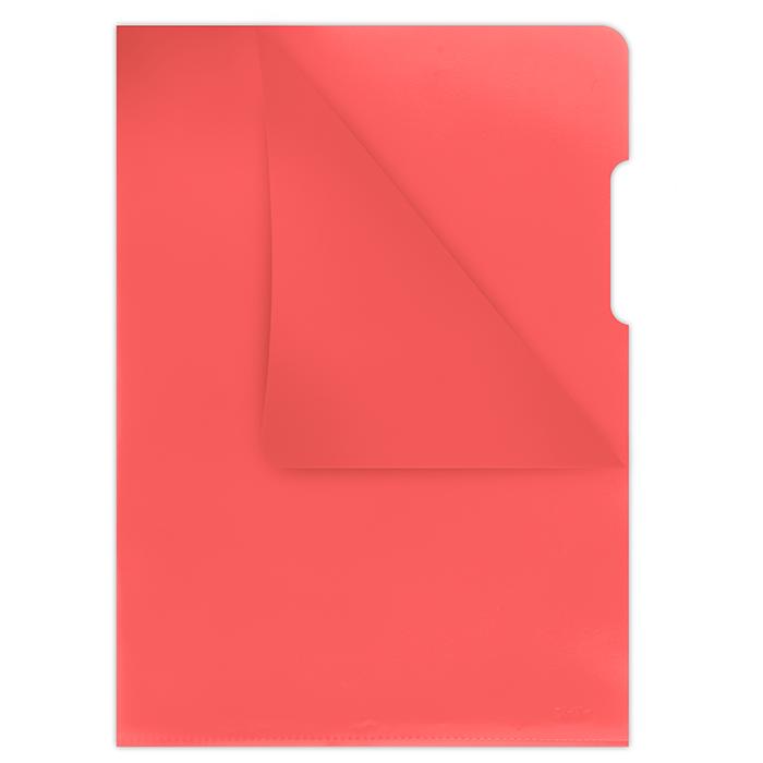 Папка-кутик А4, 180мкм, червоний1784095PL-04