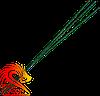 Стопін (гніт, сповільнювач) зелений, довжина: 1 метр, діаметр: 2 мм, швидкість горіння: 1 см / сек.