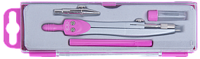 Готовальня BASIS 4 предмета, розовый, KIDS Line (ZB.5303BS-10)