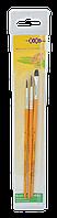 """Набор кистей """"Hobby"""": кисть пони круглая 4, 5, пони плоская 6. В пенале 3 шт., KIDS Line (ZB.6957)"""