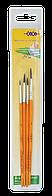 """Набор кистей """"School"""" для школьника: пони круглая 2, 3, 4, 5. В пенале 4 шт., KIDS Line (ZB.6956)"""