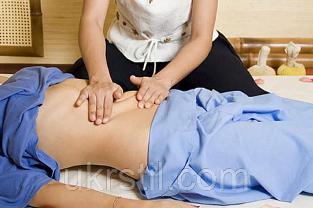 Щипковый массаж живота