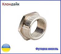 Футорка латунная (никель) 3/8х1/2 ВН