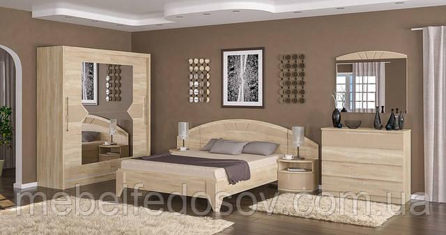 спальня аляска мебель сервис цвет дуб самоа