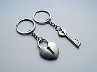 Парные брелоки для влюбленных, брелоки для парня и девушки, замок и ключ