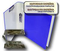 Папка с прижимом MINICLIP+CLIPBOARD 25мм А4 PP покрытие синий