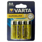 VARTA SUPERLIFE AA батарейки 1.5V 4шт ZINK-CARBON57060