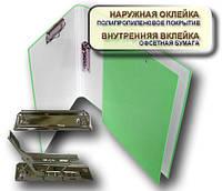 Папка с прижимом MINICLIP+CLIPBOARD 25мм А4 PP покрытие салатовый