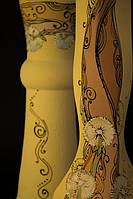 Керамическая ваза с акриловой росписью Одуванчик