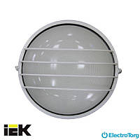Светильник НПП1306 белый/круг сетка 60Вт IP54 ИЭК (IEK)