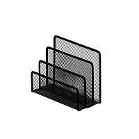 Подставка для писем Buromax 170х80х135мм, металлическая, черная BM.6210-01