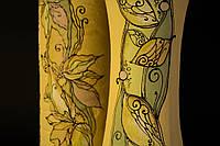 Большая керамическая ваза с рисунком Лист