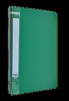 Папка A4 з боковим притиском JOBMAX, зеленийBM.3401-04