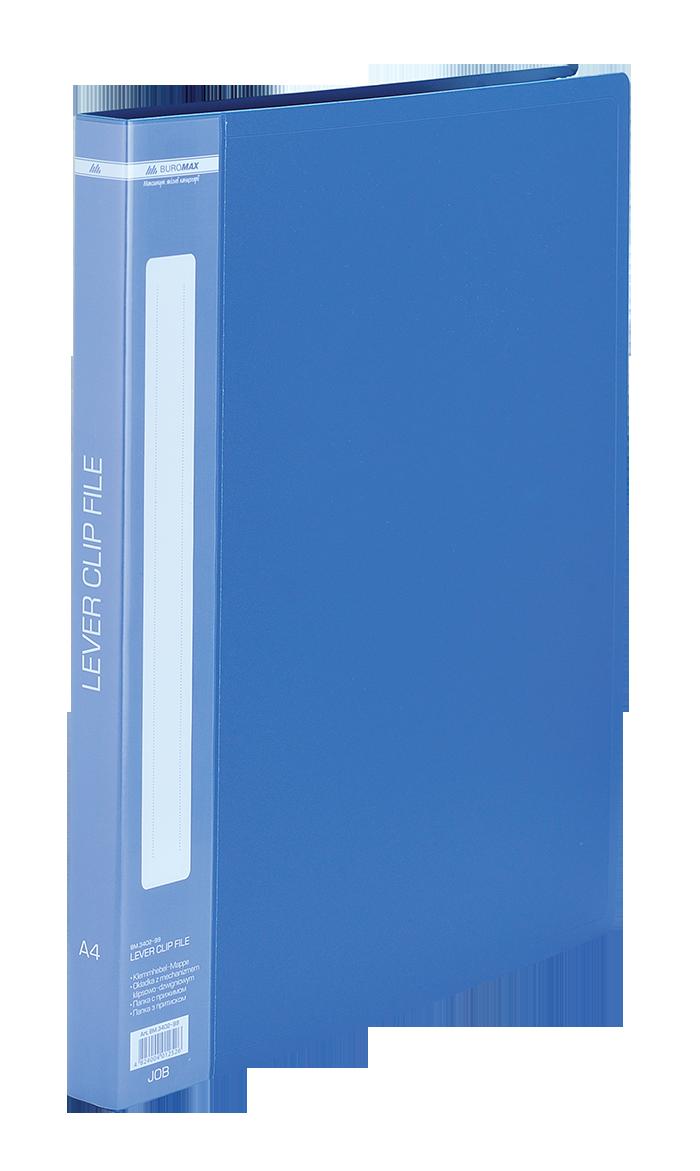 Папка A4 з боковим притиском, синійBM.3402-02
