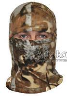 Балаклава зимняя (флис, камуфляж-лес) шапка-маска