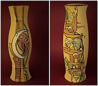 Большая керамическая ваза с рисунком Абстракция