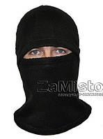 Балаклава зимняя (флис, черная) шапка-маска