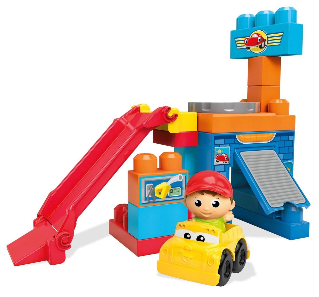 Mega Bloks First Builders Первые строители Игровой набор Гараж Spin 'n Play Spinning Garage Playset DKX85