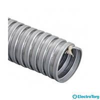 Металлорукав оцинкованный d=32мм с уплотняющей х/б нитью (толщина металла 0,3 мм) ElectroTorg