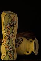 Большая керамическая ваза с рисунком ассорти