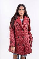 Стильная стеганая женская куртка на пуговицах