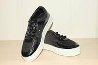 Туфли женские 36-41 р черные на шнурках.