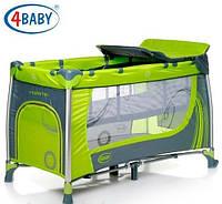Манеж-кровать 4baby Moderno 2 уровня+пеленатор