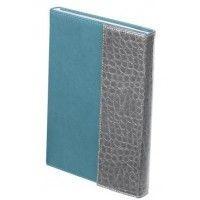 Щоденник недатований PRIMO, A5, 288 стр.сірий з бірюзовимBM.2032-09