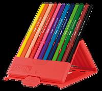 Олівці кольорові, 12 кольорів, пластикова коробка ml.0729312