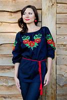 Эксклюзивное платье-футляр с ручной вышивкой бисером